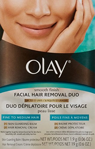 Olay Smooth Finish Facial Hair Removal Duo (Fine to Medium)1 Kit Pack of 3