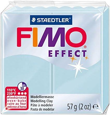 FIMO 8020-306 - Pasta de modelar, color translúcido perla, Blue Ice Quartz, 1 Pack: Amazon.es: Oficina y papelería