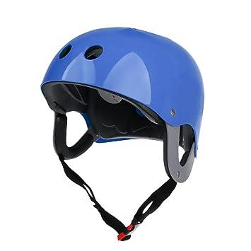 perfk 57-62cm Casco Ventilado con Comfort Liner para Esquí Acuático Deportes Acuáticos Wakeboarding Kiteboard