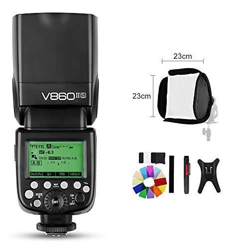 Godox Ving V860II V860II-S E-TTL HSS 1/8000 Li-ion Battery Speedlite Flash Compatible for Sony DSLR A7R A7RII A58 A99 A6000 DSLR