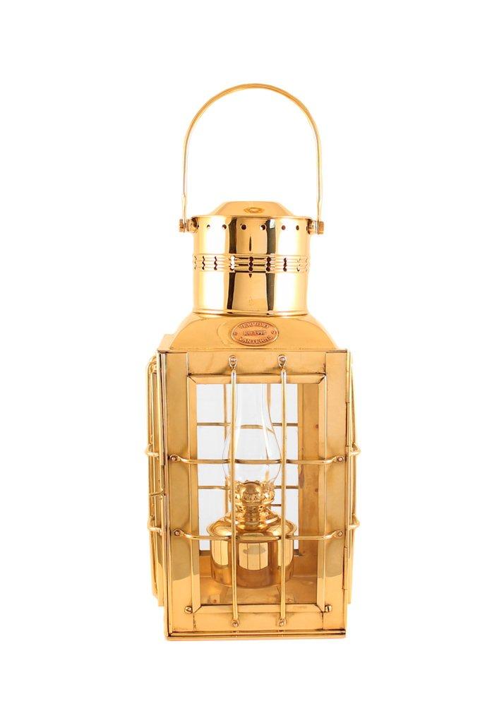 Vermont Lanterns Brass Chiefs Oil Lamp - Nautical Lantern (15'', Brass)