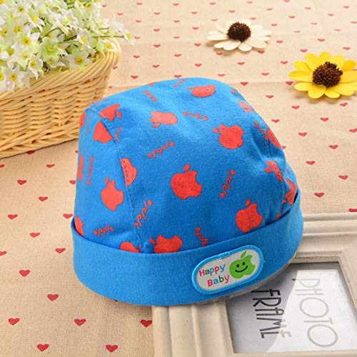 2018 Winter Children's hat,Baby hat nd0059 Baby hat Pirate hat Month Men and Women Baby, Apple Dark Blue, 3-10 Months 42-46CM