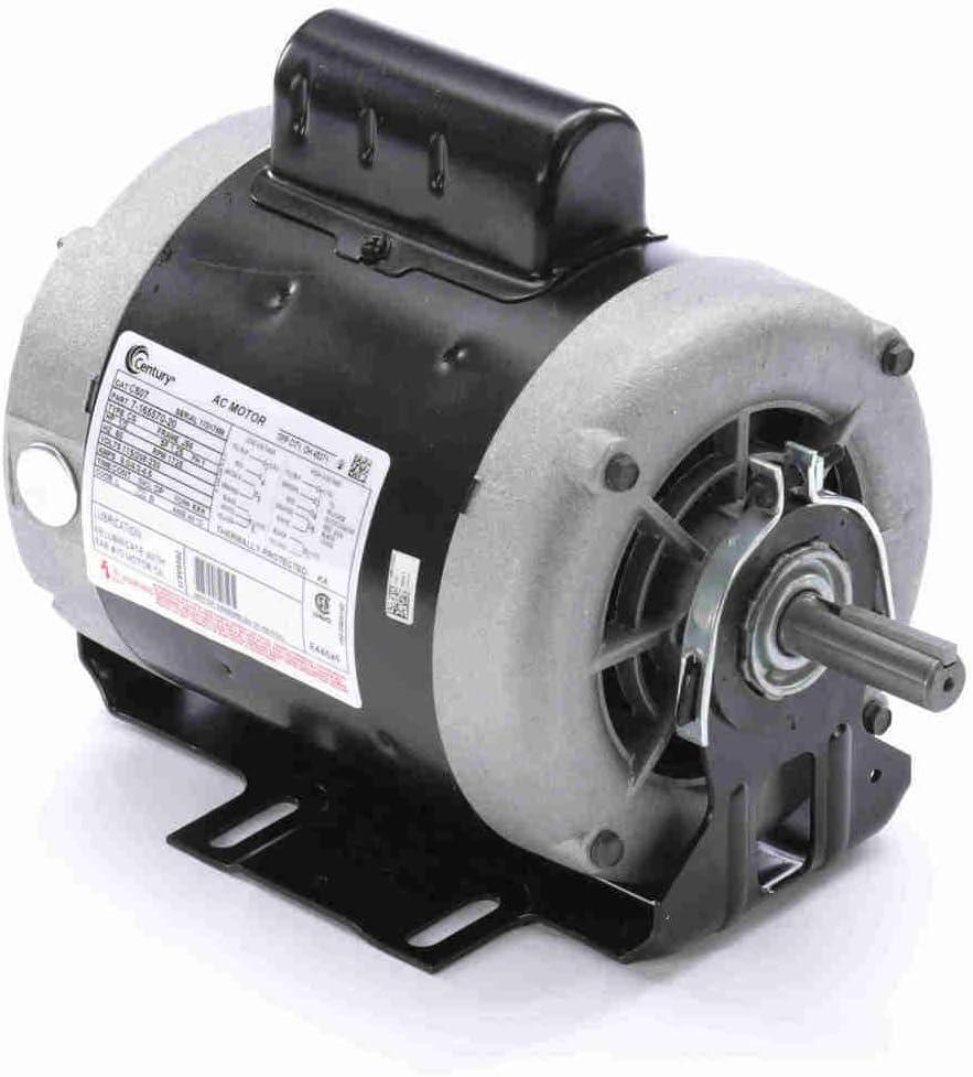 1/2 hp 1725 RPM 56 Frame 115/208-230V Belt Drive Cap Start Blower Motor Century # C607