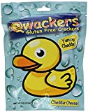 Qwackers Cheddar Cheese Crackers 5 oz Stand Up