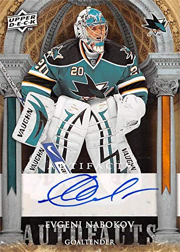 Image Unavailable. Image not available for. Color  Evgeni Nabokov  autographed Hockey Card (San Jose Sharks) ... 93d4447ec