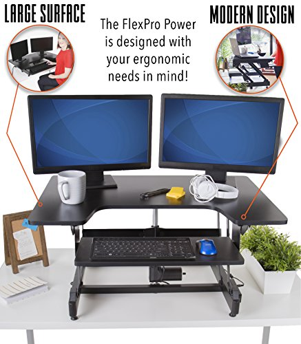 "FlexPro Power 32 inch Electric Standing Desk from Award-Winning Stand Steady | 32"" Electric Height-Adjustable Stand up Desk 
