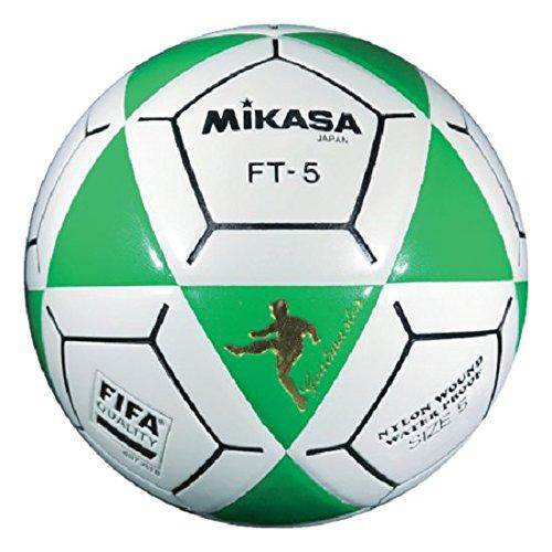 (Mikasa FT5 Goal Master Soccer Ball, Green/White, Size 5)