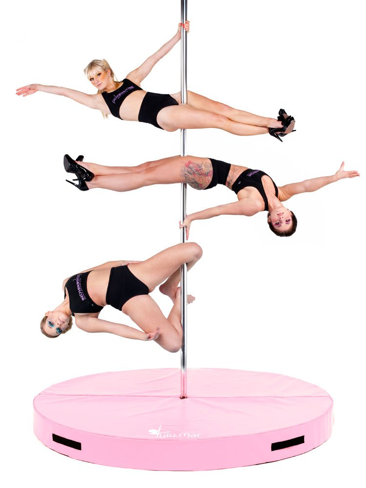 Greatgymats Folding Pole Dance Crash Mats, 2'',4'',5'' Thick Available,made of High Density EPE Foam Core (Pink, 5'x2'') by Greatgymats