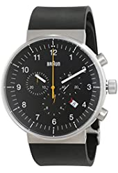 Braun Men's BN0095BKSLBKG Prestige Analog Display Swiss Quartz Black Watch