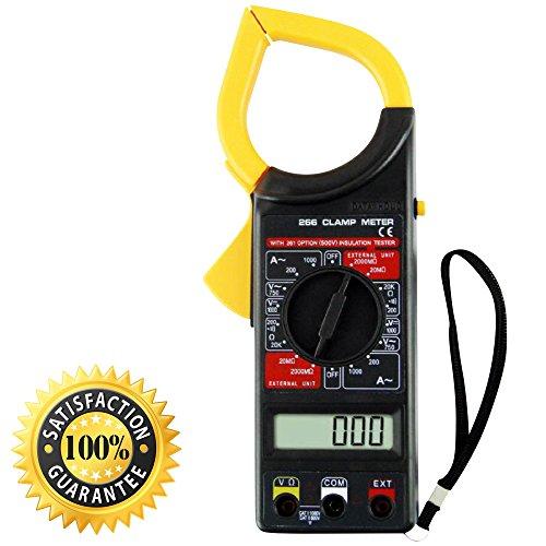 Digital Clamp Meter DT266 Multimeter with AC / DC Voltage Ampere Resistance Tester Ammeter Voltmeter Instrument
