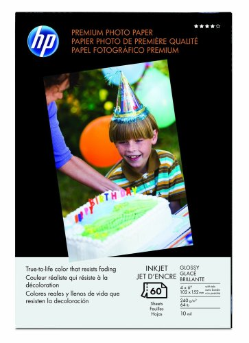 HP Q1989A Premium Glossy Photo Paper, 60 Sheets by HP