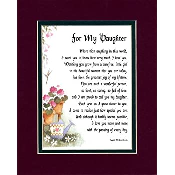 Amazoncom For My Daughter 47 Touching 8x10 Poem Double Matted