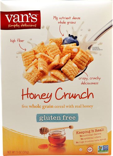 71ea22d82f Image Unavailable. Image not available for. Color  Van s Natural Foods Five  Whole Grain Cereal Gluten Free Honey Crunch ...