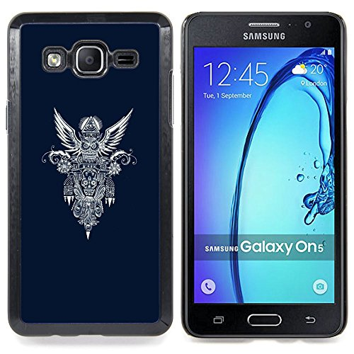 All Phone Most Case / Special Offer Smart Phone Hard Case Cool Image PC Skin Cover Protective Case for Samsung Galaxy On5 O5 // blue biker wings heaven motorcycle