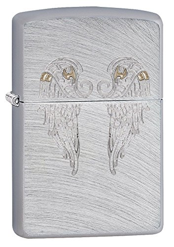 Zippo Angel Wings Pocket Lighter, Chrome Arch