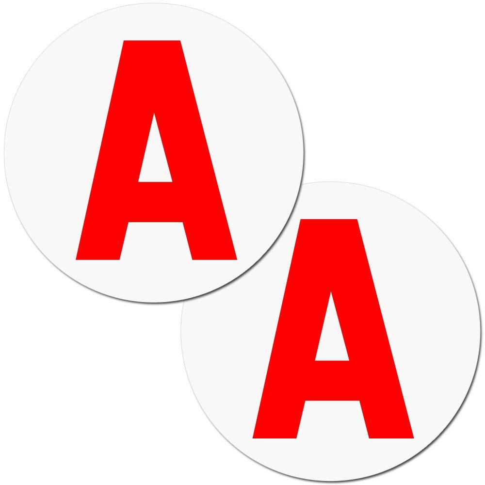 Zacro 2pcs Disque A Magnétique Adhésif de Voiture pour Jeune Conducteur, Parfait pour la Sécurité de Conduite Parfait pour la Sécurité de Conduite