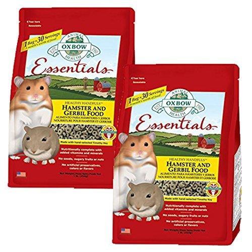 Oxbow Animal Health Hamster and Gerbil Fortified Food, 2-Pound (Food Lb Hamster Bag 2)