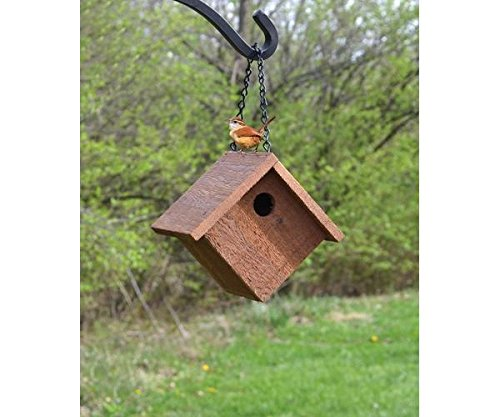 Essentials House Songbird Wren - Songbird Essentials Hanging Cedar Wren House