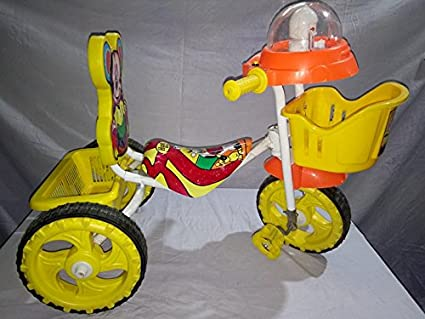 6b49d8176a2 Image Unavailable. Image not available for. Colour: Chinar Kids Platic and  Iron 3 Wheeler Bicycle with Musical Hood ...