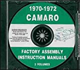 1970 1971 1972 CHEVY CAMARO FACTORY ASSEMBLY INSTRUCTION MANUAL CD. INCLUDES: RS, SS and Z/28. CHEVROLET 70 71 72
