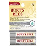 Burt's Bees 100% Natural Moisturizing Lip Balm, Ultra Conditioning With Kokum Butter, 2 Count