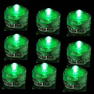 TDLTEK Submersible Led Lights - Tea Lights - for Wedding,Special Events, 12 Pack Green