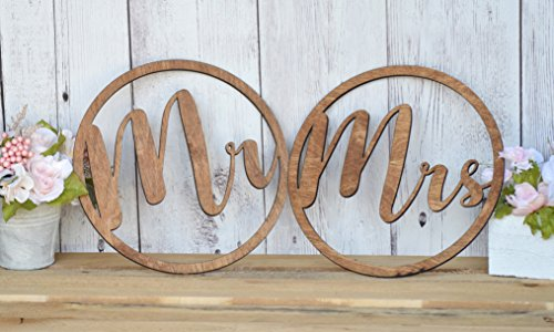 Mr & Mrs Chair Signs - Bride and Groom Chair Signs - Better Together Chair Signs - Hanging Chair Signs - Chair Backs Decorations - Weddings
