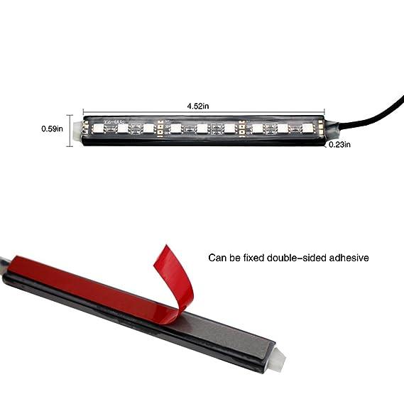 Amazon.com: YIJINSHENG tira de 9 lámparas de luz LED ...