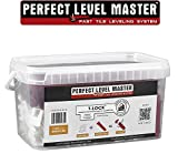 1/16'' T-Lock ™ Complete KIT Anti lippage Tile leveling system by PERFECT LEVEL MASTER ™ 300 spacers & 100 wedges in handy bucket ! Tlock