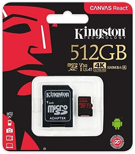 80MBs Works with Kingston Professional Kingston 512GB for Canon VIXIA HF R80 HD MicroSDXC Card Custom Verified by SanFlash.