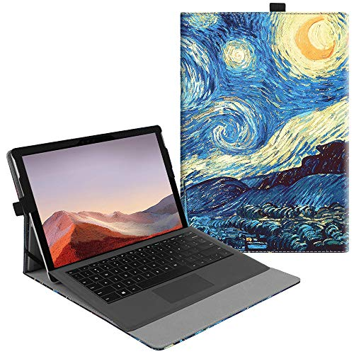 Fintie Case for New Microsoft Surface Pro 7 / Pro 6 / Pro 5 / Pro 4 / Pro 3 12.3 Inch Tablet - Multiple Angle Viewing Portfolio Business Cover, Compatible with Type Cover Keyboard (Starry Night)