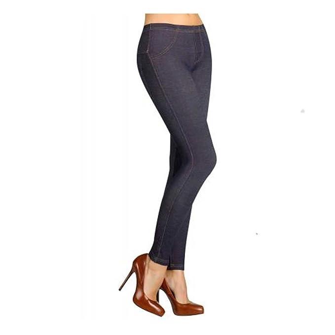 YSABEL MORA - Legging Termal Mujer Color: Marino Jeans Talla: S