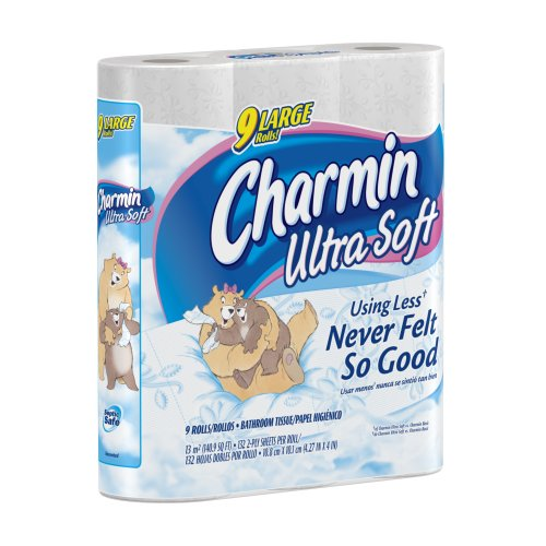 Charmin Ultra Soft, Toilet Paper Large Rolls, 9-Count