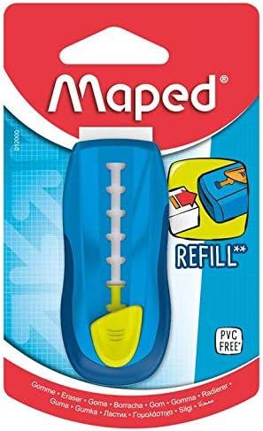 MAPED - Gomme Universal Gom Stick - Gomme Blanche avec étui de Protection -  Porte-Gomme Rechargeable - Gomme rétractable - sans Phtalates - sans PVC -  Coloris Bleu: Amazon.fr: Fournitures de bureau