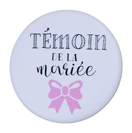 ce2f04c28e1b Bestdayever Cadeaux invités et Accessoires Mariage - Badge 32mm Collection  Couleur - Témoin de la mariée