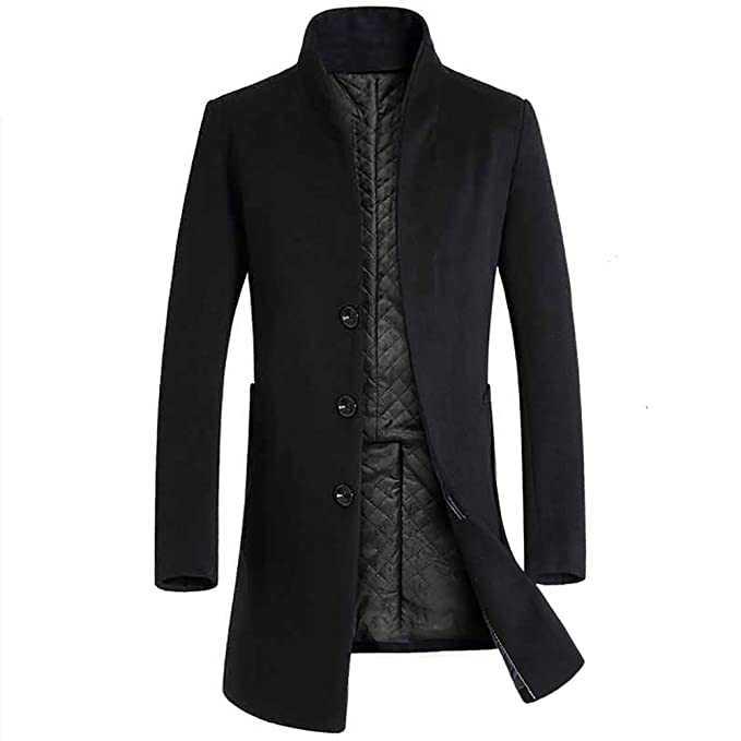 b1d406434 TAGGMY Jackets for Men, Elegant Business Coat Long Sleeve Warm ...