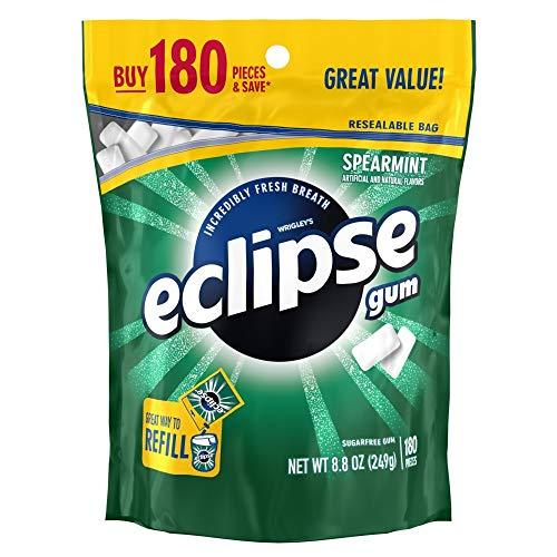 ECLIPSE Spearmint Sugarfree Chewing Gum, 180 piece