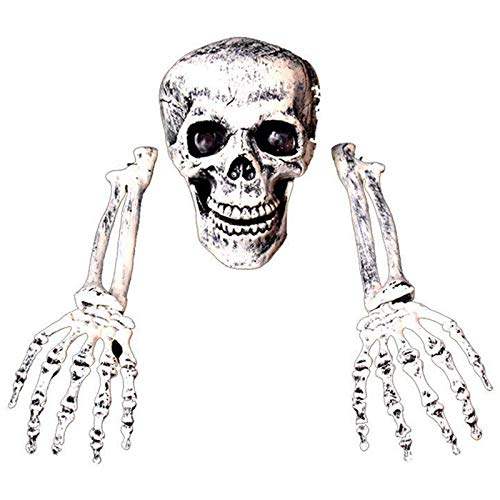TOOGOO 3 Pezzi di Halloween Horror sepolto Vivo Skeleton Skull Garden Yard Lawn Decoration