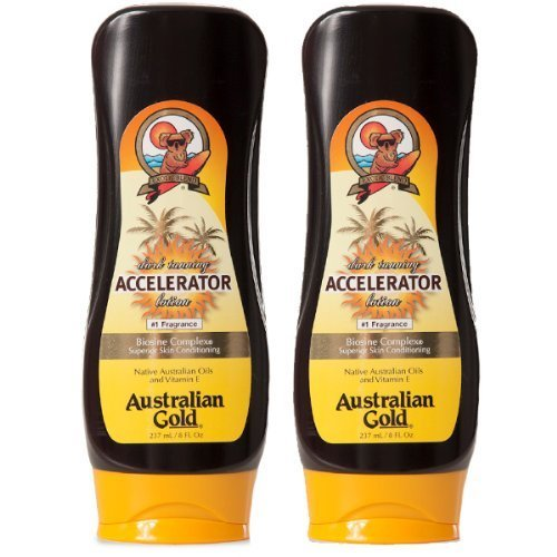 2 Pack, Dark Tanning Accelerator Lotion (8 ounces) by Australian Gold
