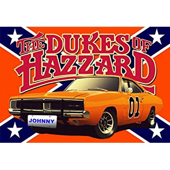 dukes of hazzard collectors personalized 13x19 poster with your name