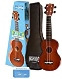 Mahalo Ukuleles MR1TBRPK Rainbow Series Soprano Ukulele Beginner Package