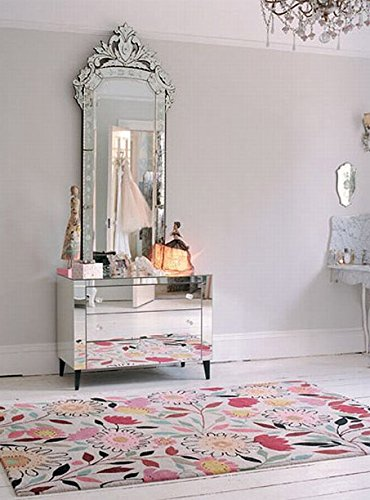Venetian Design Mirrored Dressing Table