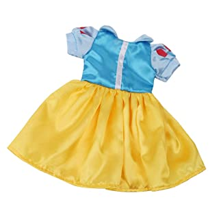 Homyl Lovely Snow White Dress Skirt per 18 Pollici Doll Dress Up Biancaneve Fashion Doll