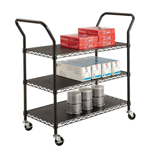 SAF5338BL - Safco 3-shelf Wire Utility (Safco 3 Shelf)
