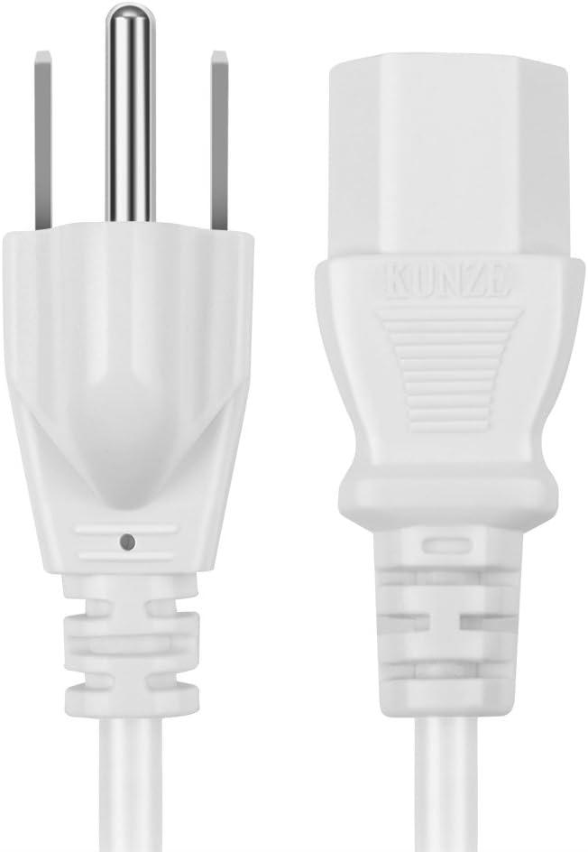 Black - NEMA 5-15P to IEC320C13 Power Cable Wire Connector Socket Plug Jack TNP Universal Power Cord 15 Feet