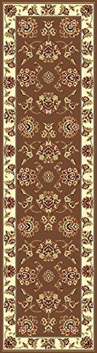 KAS Oriental Rugs Cambridge Collection Floral Mahal Runner, 2'2