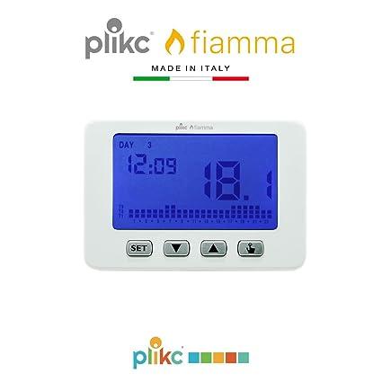 Plikc Fiamma PLK267603 - Cronotermostato digital de pared a pilas, semanal