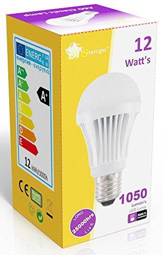 Intensidad regulable de estrellas A60 12 W=75 W GLS bombillas LED rosca Edison E27