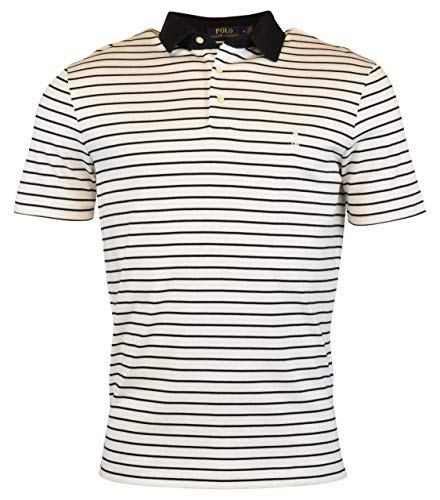 Polo Ralph Lauren Men's Regular Fit Striped Knit Polo Shirt - XL - White/Black ()