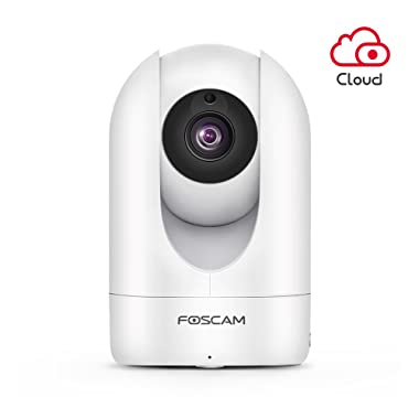 Foscam Full HD 1080P WiFi IP Camera, 2MP Indoor Pan/Tilt Home Security Surveillance Camera with Night Vision, Two-Way Audio, Motion/Sound Detection, Free Image/Video Cloud Service Available (White)